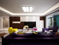 湖城大境三居室161平米现代简约风格客厅