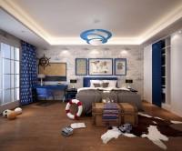 湖城大境三居室161平米现代简约风格儿童房
