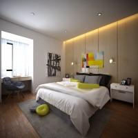 湖城大境三居室161平米现代简约风格次卧